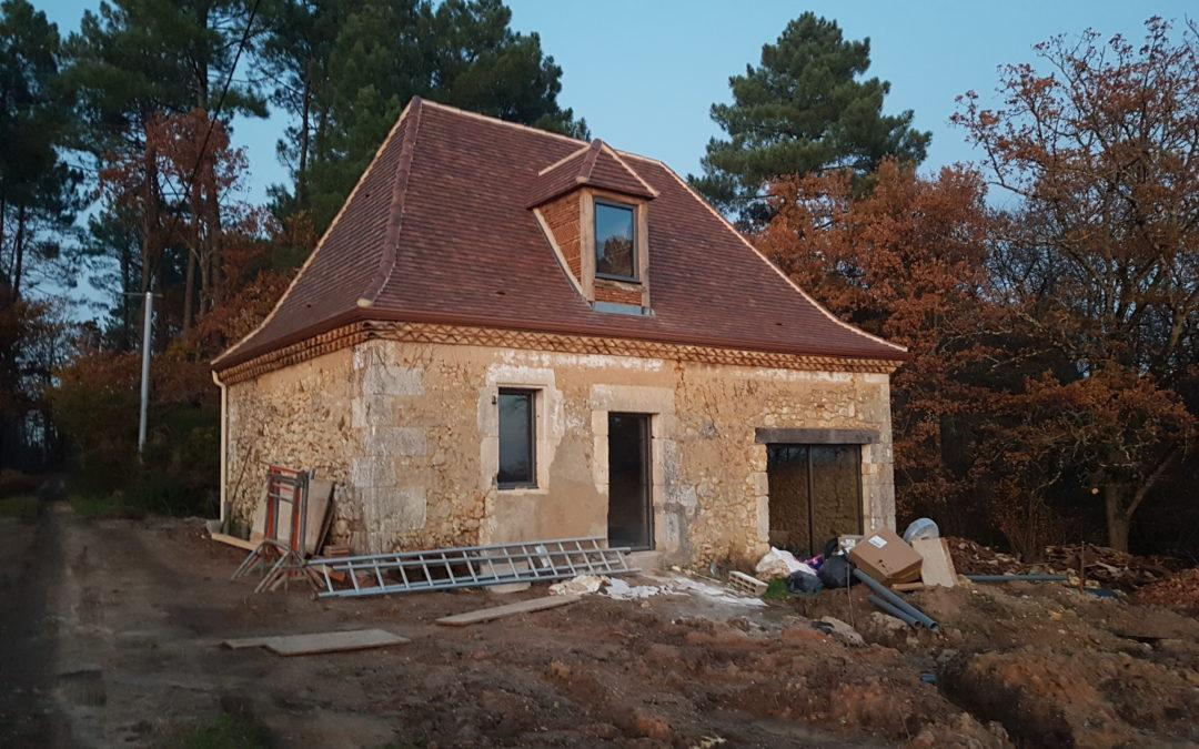 Les travaux de rénovation du gîte